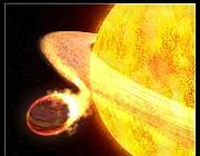 Wasp-12 e il suo pianeta, ricostruzione da Nasa