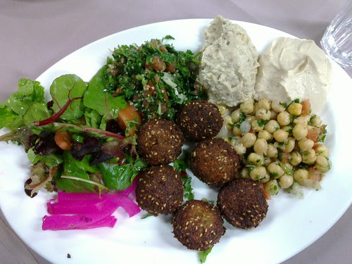 falafel plate at Tiba's