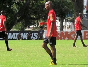 Wellington Silva no treino do Flamengo (Foto: Richard Souza / Globoesporte.com)