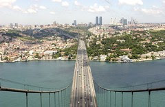 Bosphorous bridge, tower view
