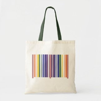 Double Rainbow Barcode bag