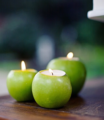 Unique and Simple Centerpieces - Apple Candle Holders - A ...