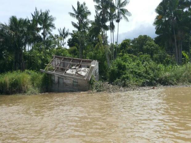 Estudo apontou 100 casas em risco de desabamento (Foto: Raimundo Ramos/Arquivo Pessoal)