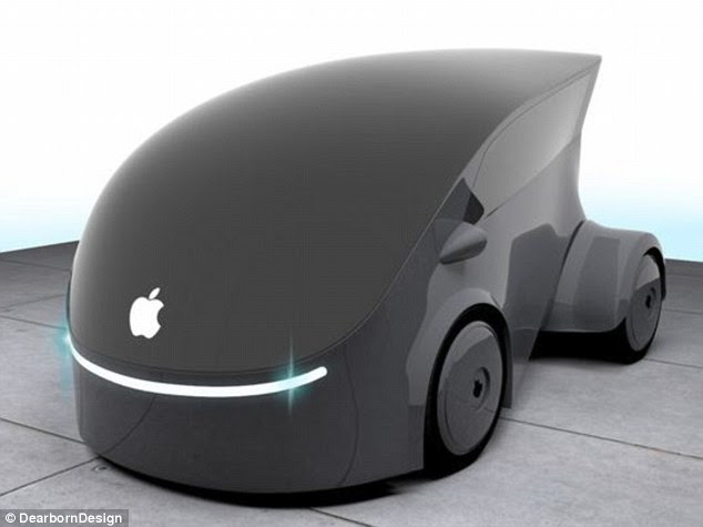 This innovative designer says the driver can just slide their key over the Apple logo and the front glass panel of the three-seater car will open up for entry