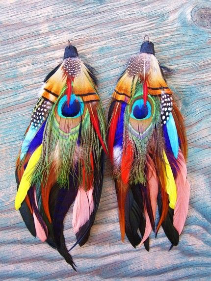 Southwestern Feather Earrings