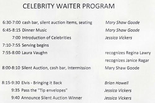Celebrity Waiter Program