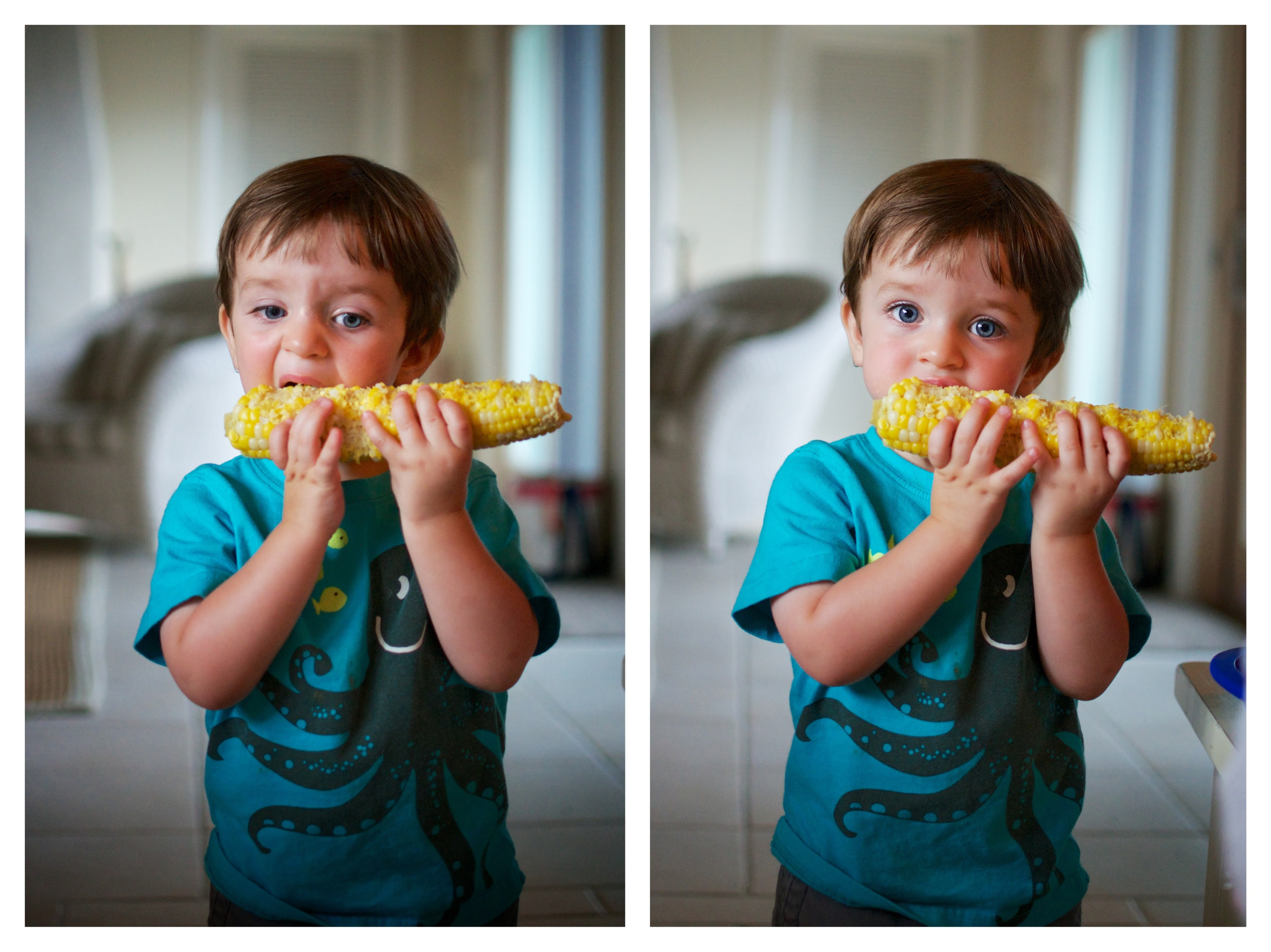 sam with corn