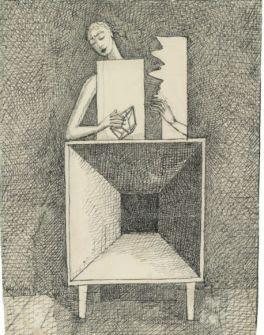 Alberto Giacometti Surrealist Composition