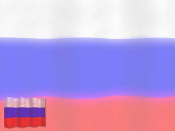Russia Flag 01 Powerpoint Templates