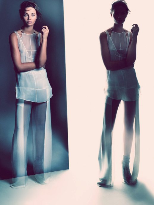 LE FASHION BLOG EDITORIALS SPRING SUMMER SHEER TREND ELLE SWEDEN SHEER TRANSPARENT WHITE PANELED SLEEVELESS JUMPSUIT Varljus Moa Aberg By Andreas Sjoden Elle Sweden Summer 2013 Stylist Styled by Lisa Lindqwister Hair Rudi Lewis Makeup Ignacio Alonso 4