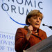 Angela Merkel, the chancellor of Germany, said recent moves had calmed markets but had not solved the euro zone's underlying economic problems.