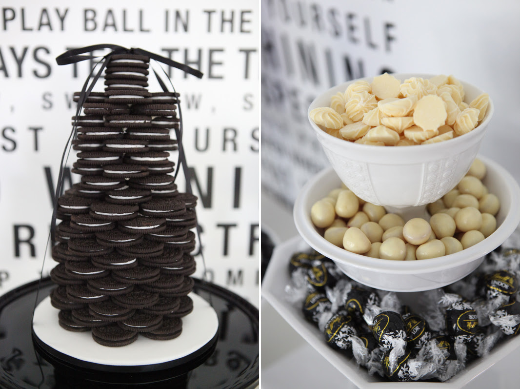 A Black And White 40th Birthday Dessert Table Sweet Style