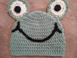 Cute and Easy Frog Beanie Hat Crochet Pattern (2)
