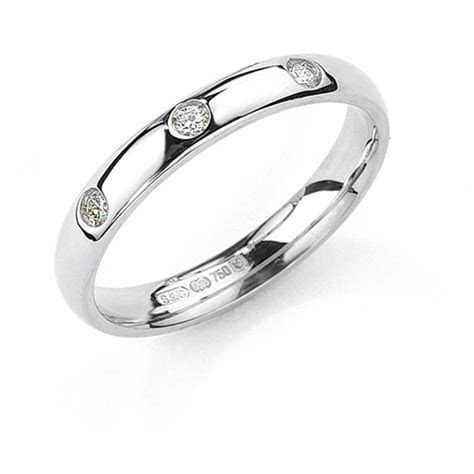 court shape wedding ring 3mm