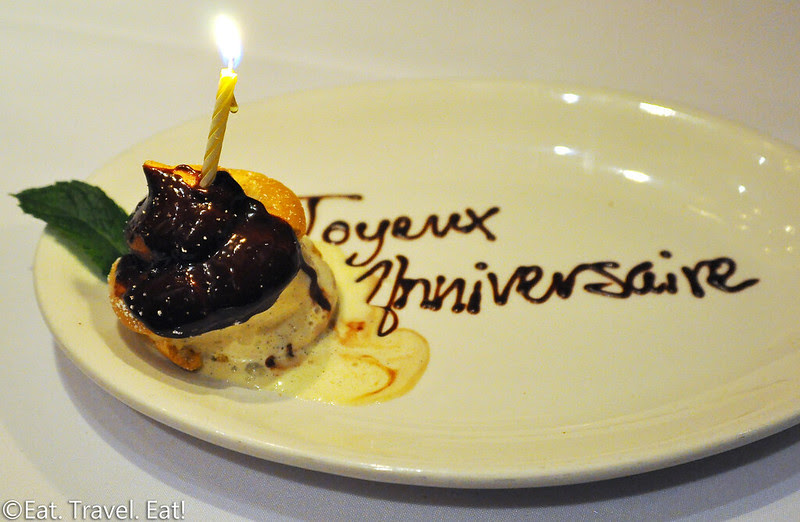 Cheval Bistro- Pasadena, CA: Complimentary Birthday Profiterole
