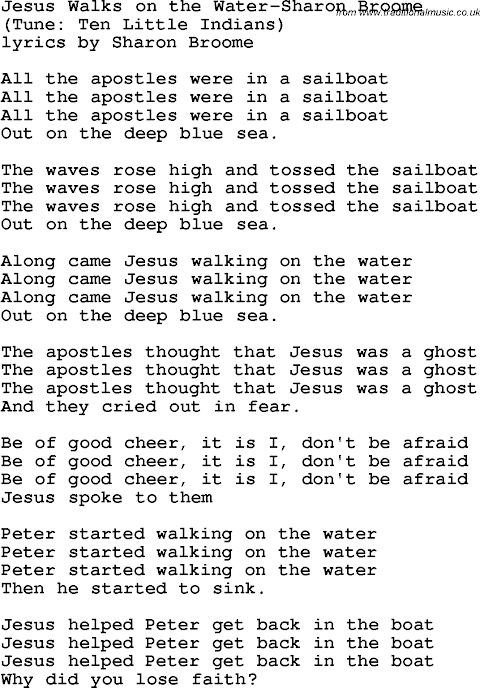 Walking On The Water Lyrics