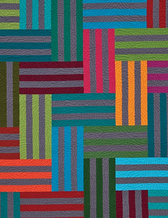 Stripes w/wonderful quilting...