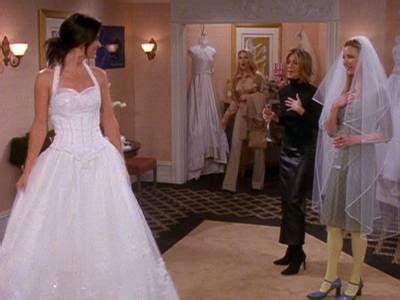 I love Monica's Dress! The One With The Cheap Wedding
