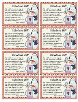 31 Snowman Soup Printable Label Labels Database 2020