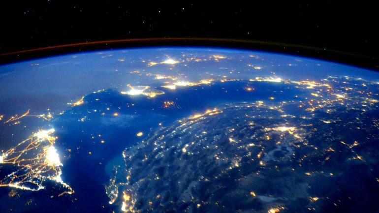 La imagen del Golfo Arábico tomada por el astronauta de la NASA