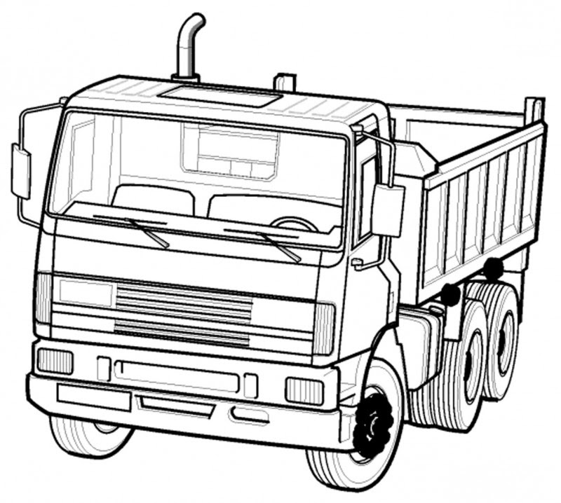 Gambar  Rabble Construction Truck Paw Patrol Coloring Page