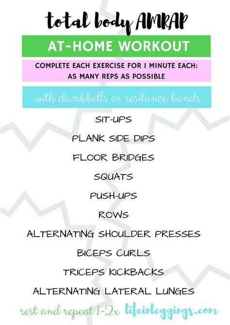total body amrap workout life  leggings