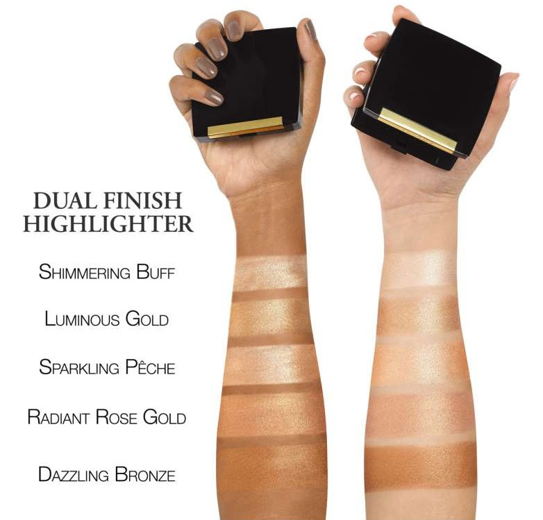 Lancome Dual Finish Highlighter Swatches