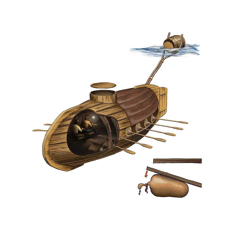 Resultado de imagen de cornelius drebbel submarine