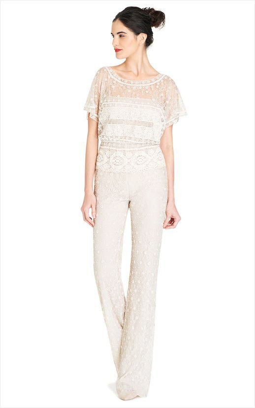 20 Alternative Wedding Looks Valentino Vintage White Embroidered Jumpsuit Non-Traditional Bride photo 19-20-Alternative-Wedding-Looks-Valentino-Vintage-White-Embroidered-Jumpsuit.jpg