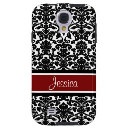 Samsung Red Damask Custom Name