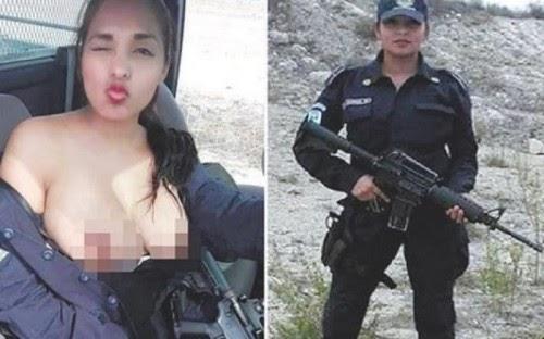 Policial mostras os seios em viatura e foto viraliza nas redessociais
