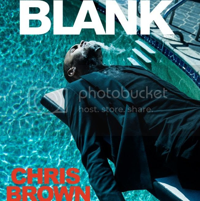 Chris Brown's cover spread for 'Blank' magazine...
