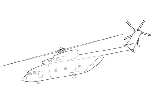 Dibujo De Helicóptero Mil Mi 26 Para Colorear Dibujos Para