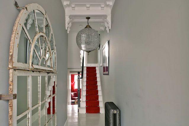 Glamorous small, narrow Victorian hallway!