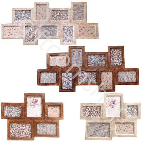 vintage style wooden photo picture frame multi collage