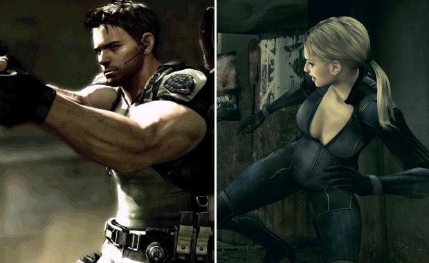 Chris bombado e Jill com apliques (Foto: Reprodução )