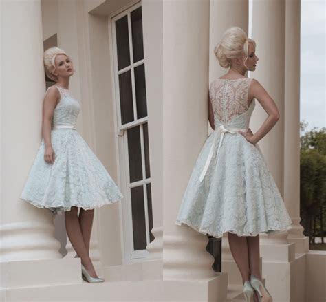 Vintage Style Simple Wedding Dresses Popular Tea Length