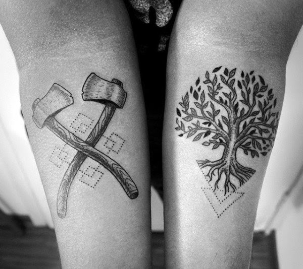 50 Oak Tree Tattoo Designs For Men Leaves And Acorns