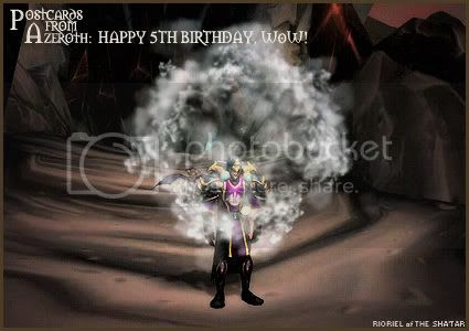 Postcards of Azeroth: Happy 5th Birthday, WoW, by Rioriel Ail'thera