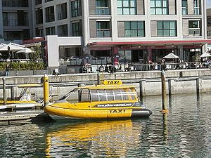 A water taxi in Auckland