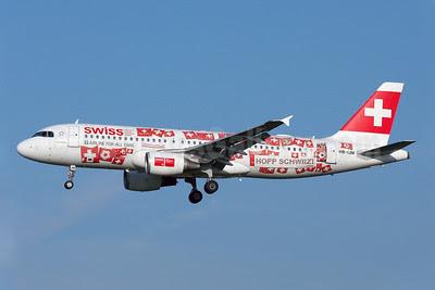 Swiss International Air Lines Airbus A320-214 HB-IJM (msn 635) (Euro 2008) AMS (Arnd Wolf). Image: 907000.