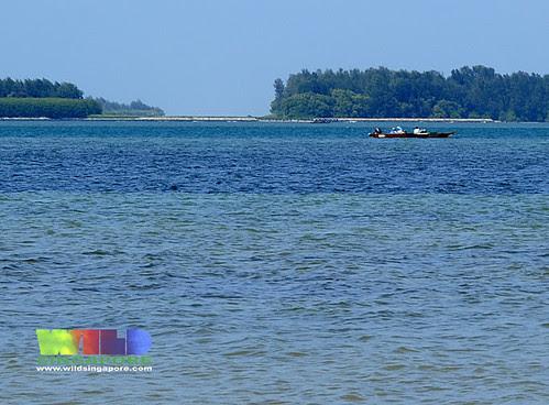 Fishermen off Pulau Semakau