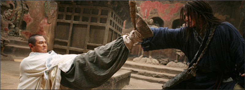Jackie Chan and Jet Li, both masters of fight choreography, finally verse each other in a fight scene from The Forbidden Kingdom.