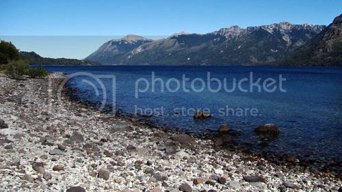 Beach on Lake Huechulafquen
