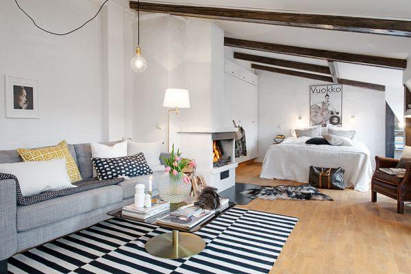 44 Sqm Open Space Apartment Showcasing Charming Details