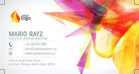 Personality business card PSD design in Europe and America