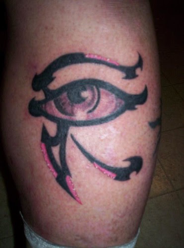 He tweeted the picture of the Eye of Horus last night, check it out below. Not your average tattoo (Group)