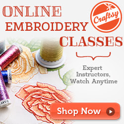 Online Machine Embroidery Class