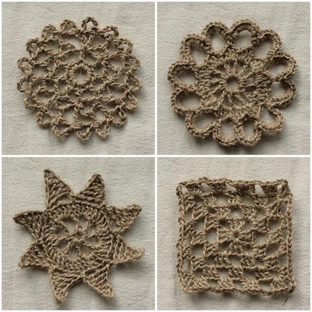 jute crochet motifs