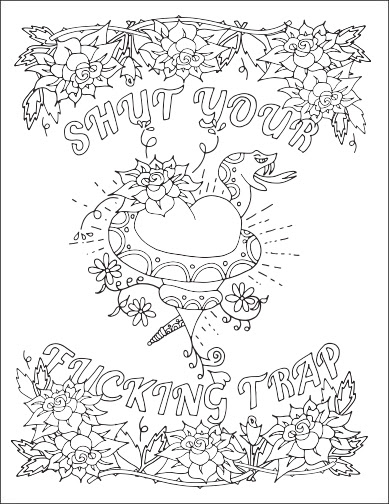 87 Coloring Pages For Adults Swear Words Pictures